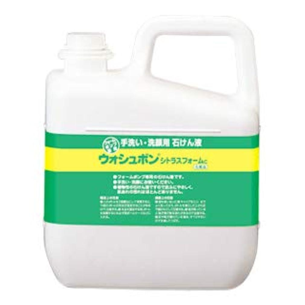 逃れるメタリック三番サラヤ ウォシュボン 手洗い用石けん液 ウォシュボンシトラスフォームC 5kg