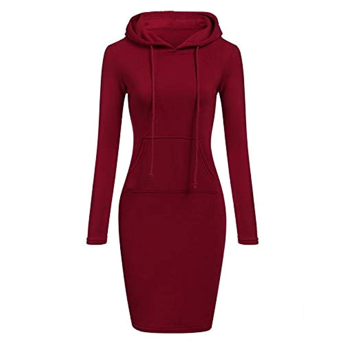 入り口ブラシうまくやる()Maxcrestas - ファッションフード付き巾着フリースの女性のドレス秋冬はドレス女性Vestidosパーカースウェットシャツドレスを温めます