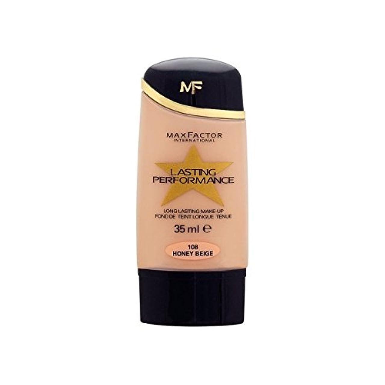 ゴミテスピアンチーズマックスファクター持続パフォーマンスの基礎ハニーベージュ108 x2 - Max Factor Lasting Performance Foundation Honey Beige 108 (Pack of 2) [並行輸入品]