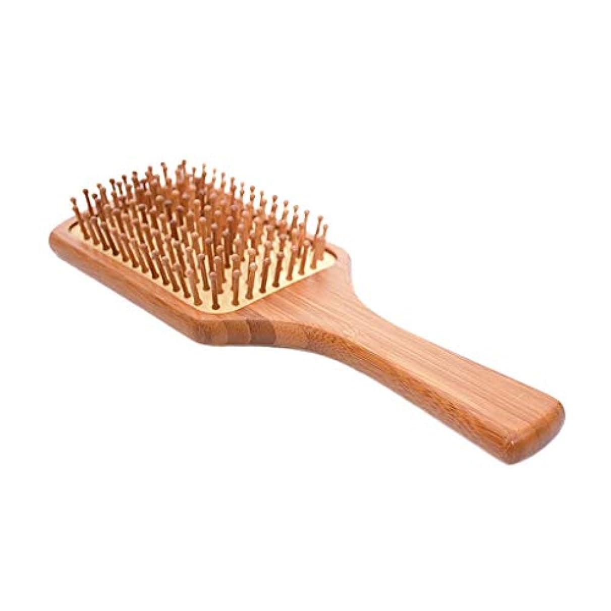 オーバードロービュッフェ競う男性と女性の頭皮マッサージのための天然の竹の四角い髪の櫛