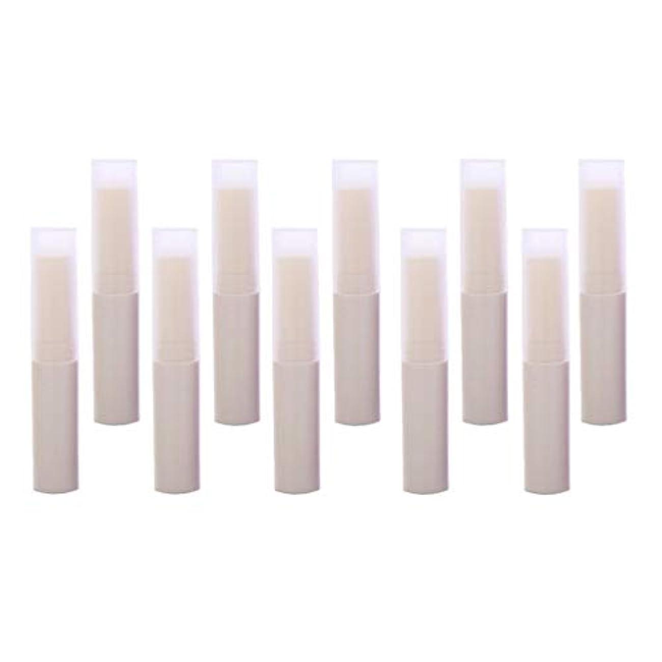 タワーまろやかな測るToygogo リップスティック リップクリーム容器 DIY 化粧道具 詰替え容器 10個 全7色 - ベージュ