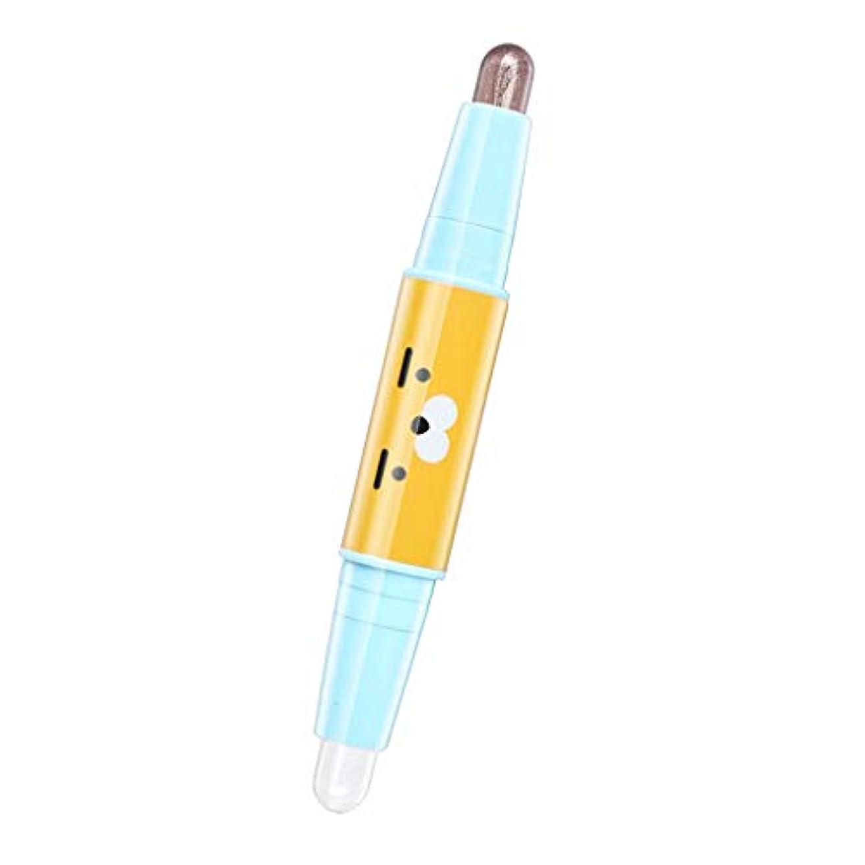 Perfeclan アイシャドーペン アイシャドウ メイクアップ スティック デュアルヘッド ハイライター ブライト 3D アイペン 化粧品 6色選べ - 05
