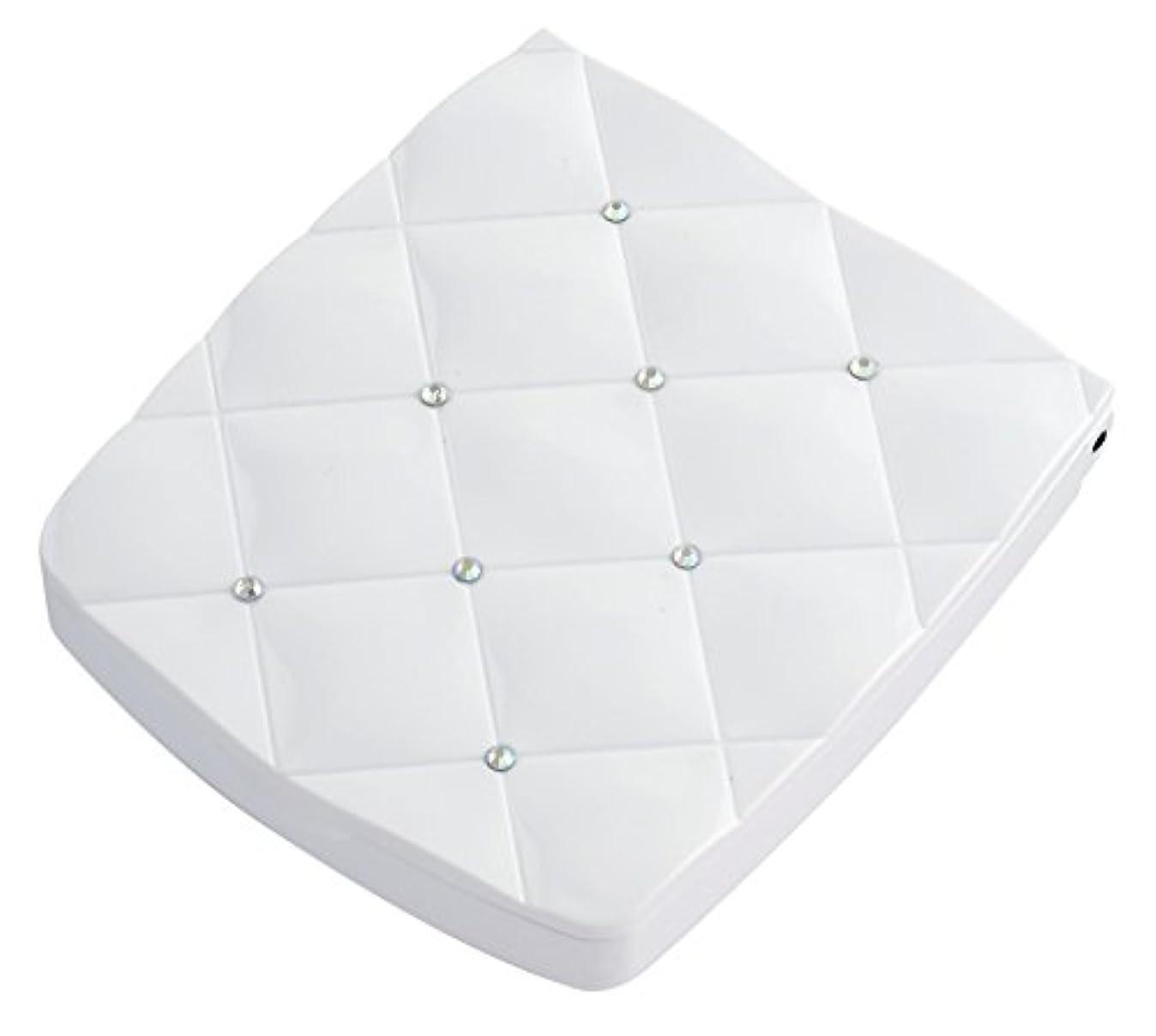 ドレス平衡ミニ貝印 LED付き約5倍拡大鏡 S 白 KQ0335
