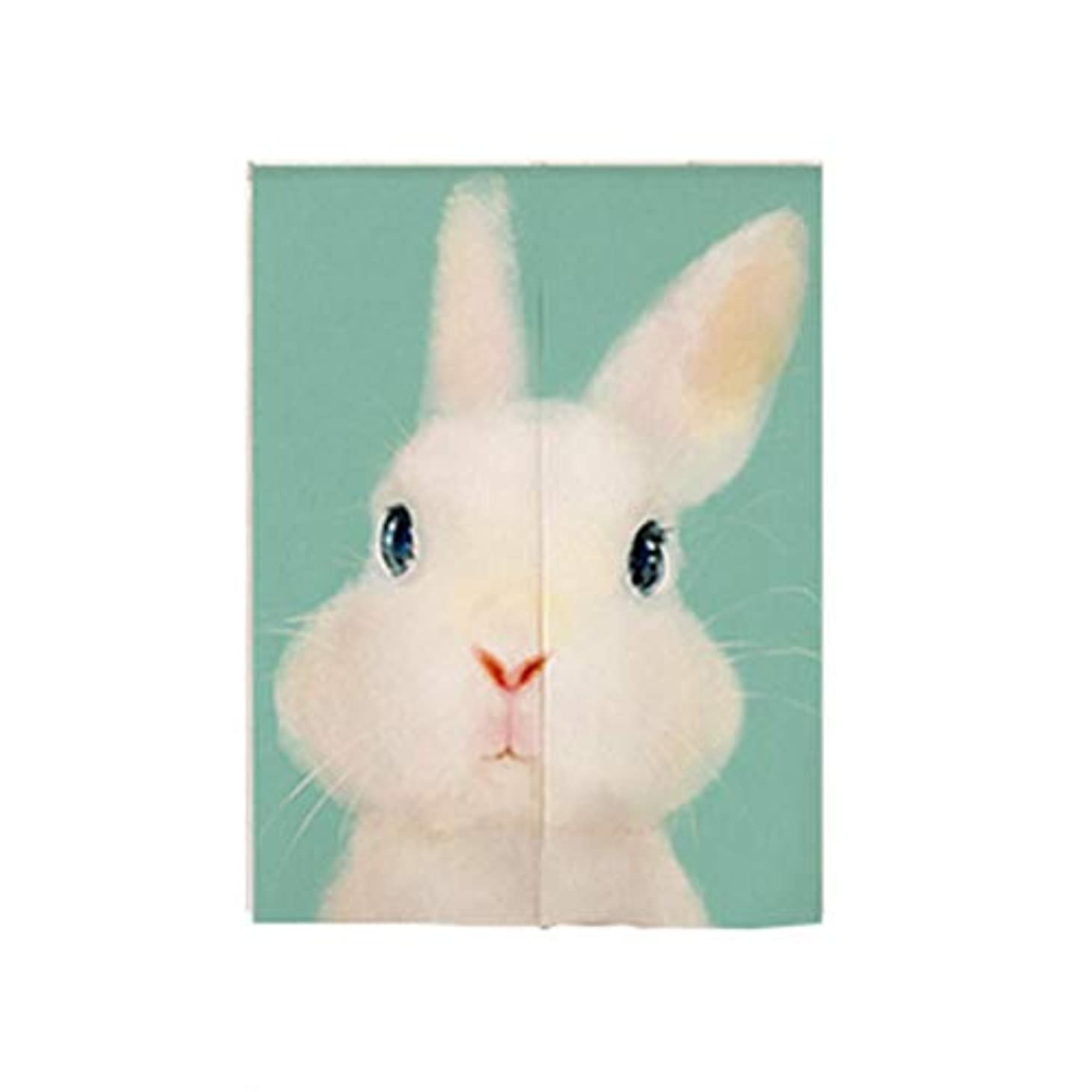 社会学シガレット登録Saikogoods かわいいかわいい漫画の動物のプリントの子供のベッドルームリビングルームコットンカーテンハーフオープンカーテンドアカーテン マルチカラーミックス