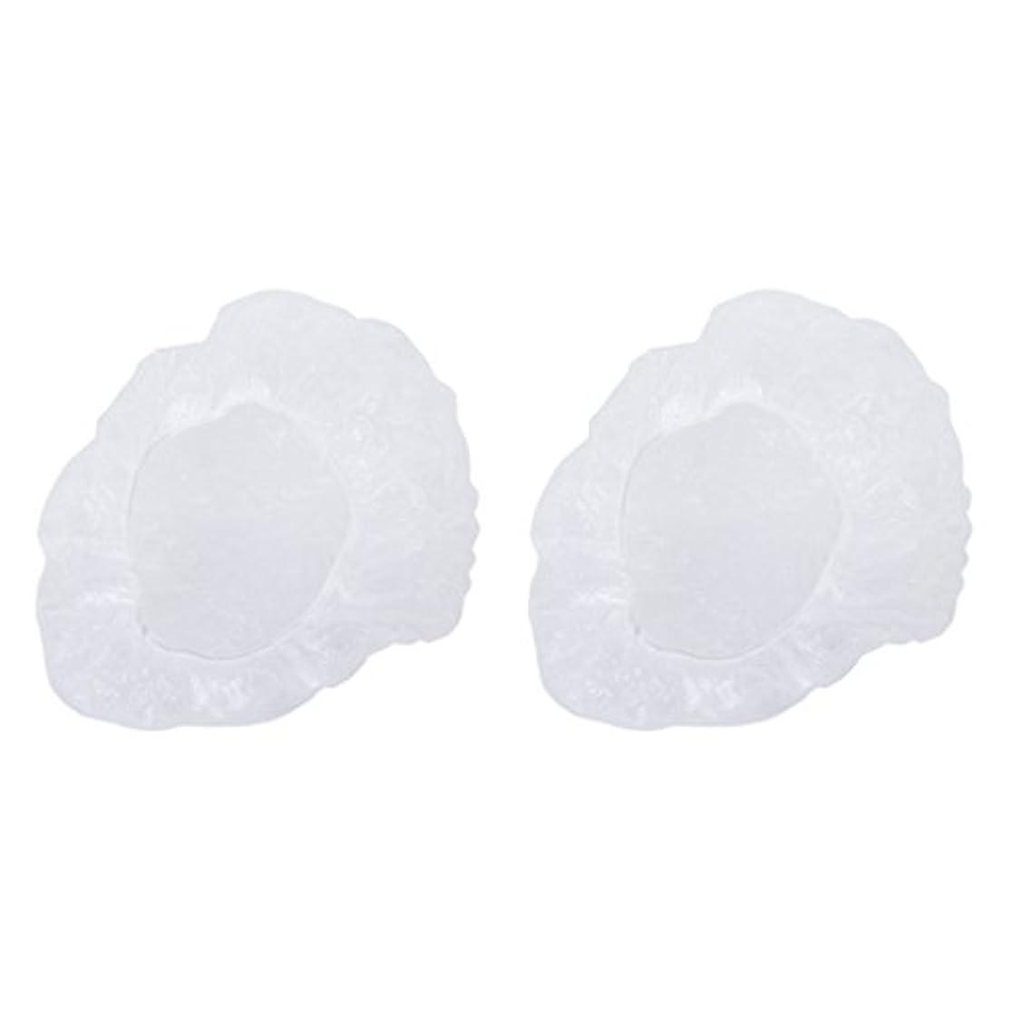 Perfk お買い得 ポリエチレン シャワーキャップ カバー 使い捨て プラスチック製  シャンプーハット 透明 200枚