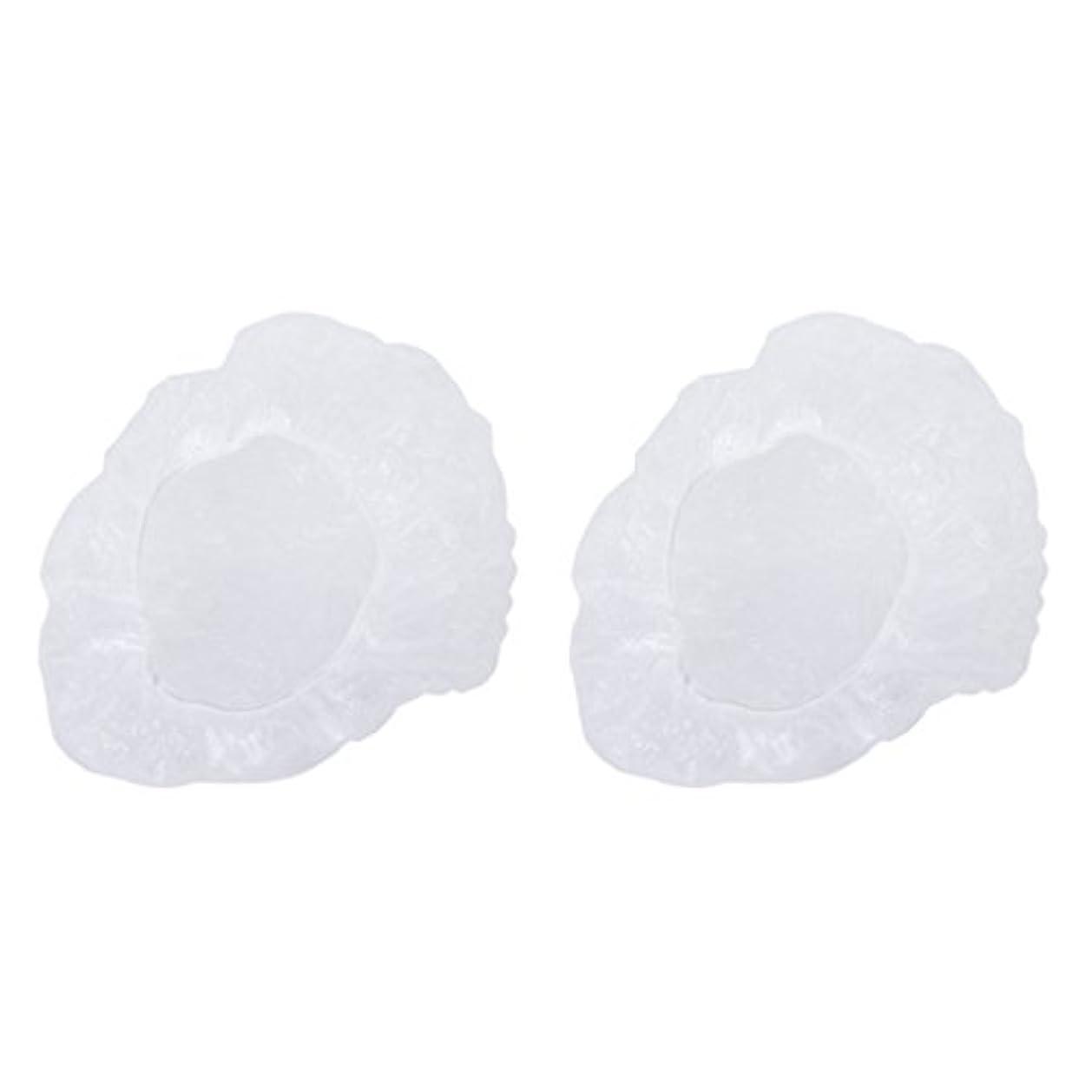 誘惑する説得放棄されたポリエチレン シャワーキャップ カバー 使い捨て プラスチック製 シャンプーハット 透明 200枚