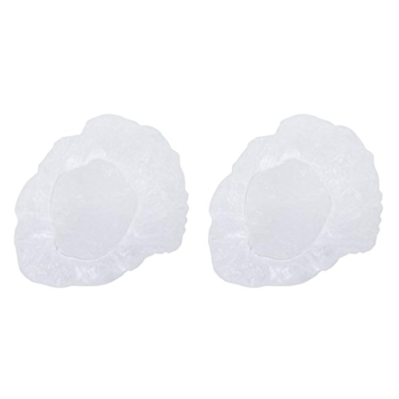 故障支援するクックポリエチレン シャワーキャップ カバー 使い捨て プラスチック製 シャンプーハット 透明 200枚