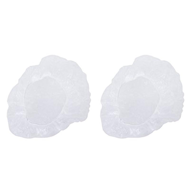 寝室を掃除する洪水六分儀ポリエチレン シャワーキャップ カバー 使い捨て プラスチック製 シャンプーハット 透明 200枚
