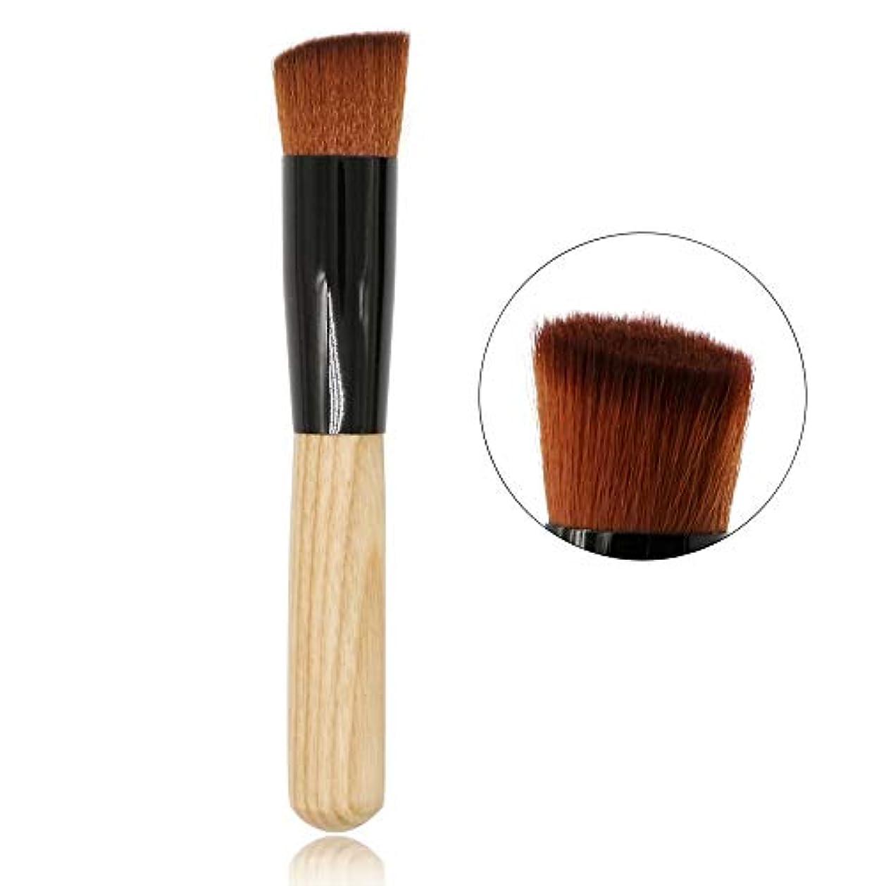 ひどいアスレチック格差CHANGYUXINTAI-HUAZHUANGSHUA 単一の基礎ブラシ、チークブラシを運ぶための木製のハンドル。 (Color : Wooden Color)
