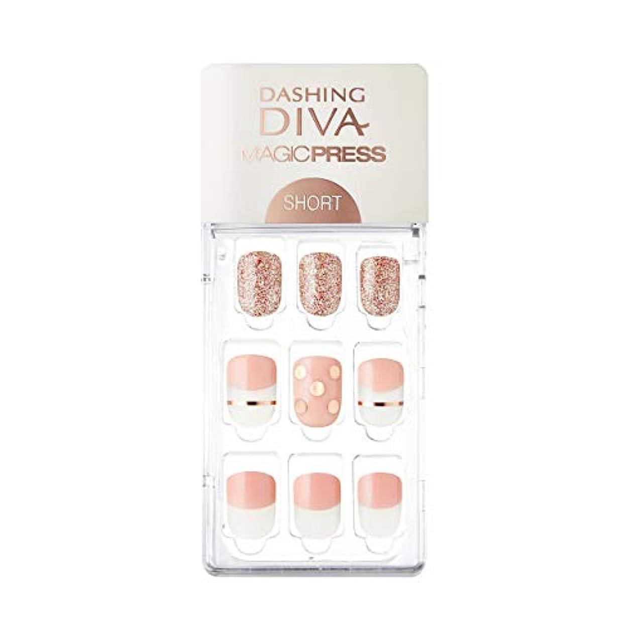 色合い中性能ダッシングディバ マジックプレス DASHING DIVA MagicPress MDR228SS-DURY+ オリジナルジェル ネイルチップ Pink Polka
