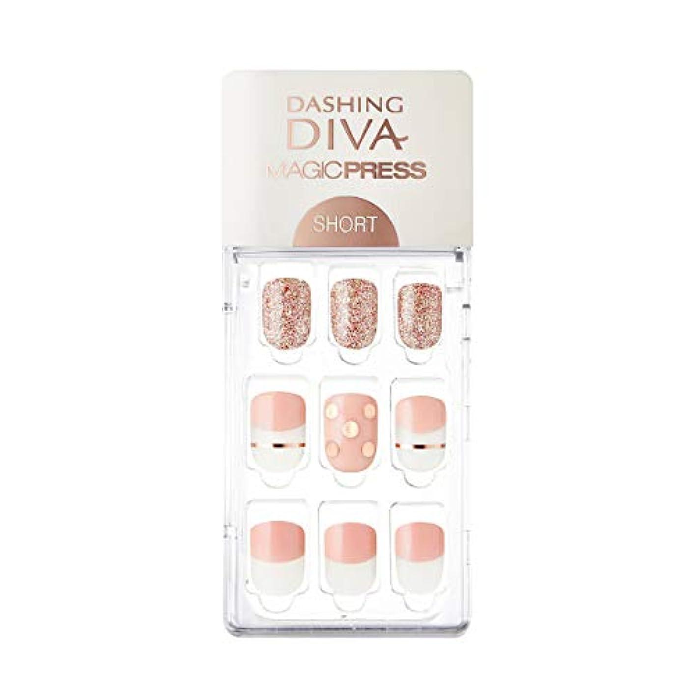 襲撃暗殺する堤防ダッシングディバ マジックプレス DASHING DIVA MagicPress MDR228SS-DURY+ オリジナルジェル ネイルチップ Pink Polka