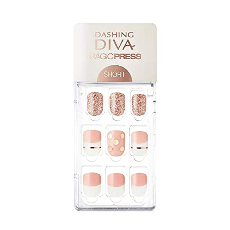 オーケストラのため縫うダッシングディバ マジックプレス DASHING DIVA MagicPress MDR228SS-DURY+ オリジナルジェル ネイルチップ Pink Polka
