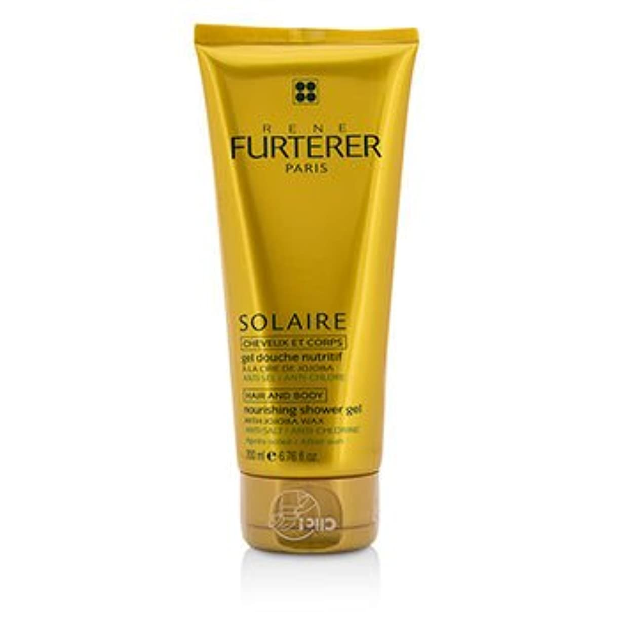盗賊トンネルバン[Rene Furterer] Solaire Nourishing Shower Gel with Jojoba Wax (Hair and Body) 200ml/6.76oz