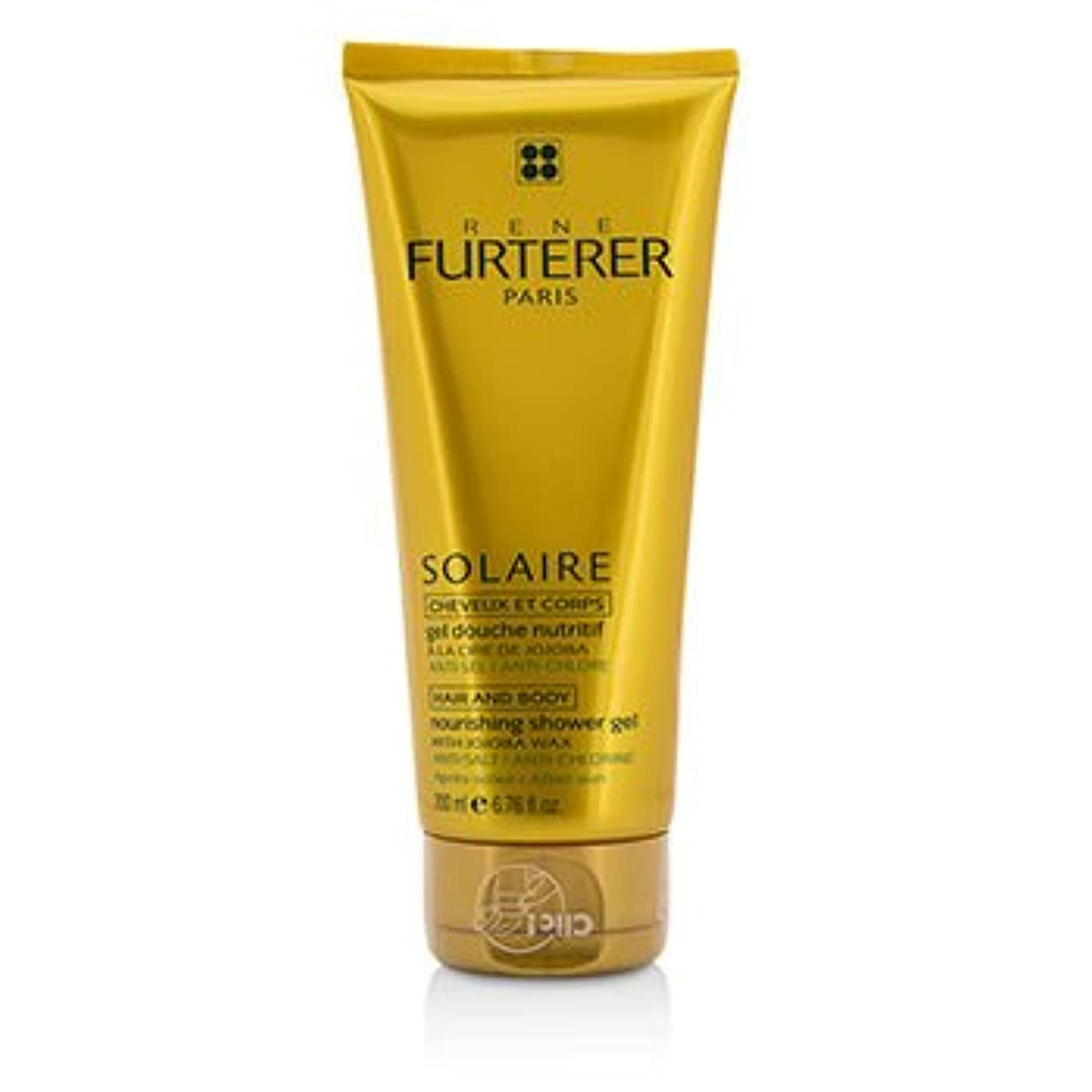うまくやる()急降下静けさ[Rene Furterer] Solaire Nourishing Shower Gel with Jojoba Wax (Hair and Body) 200ml/6.76oz