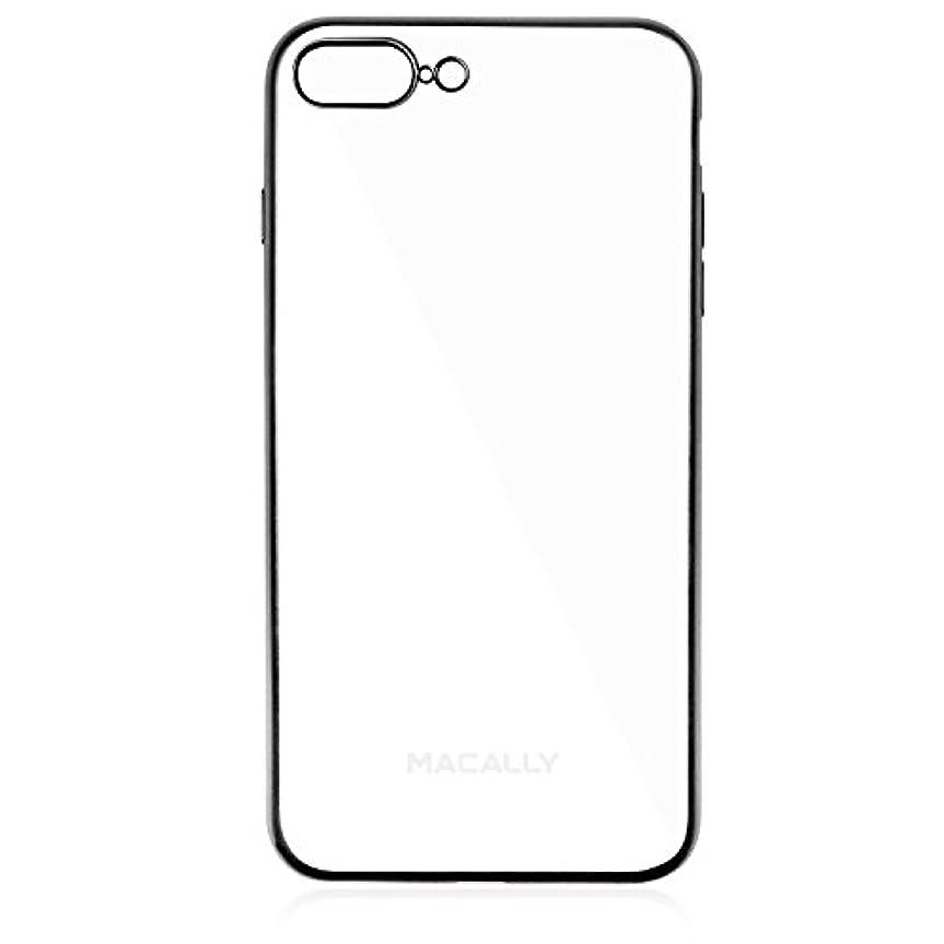 合わせて苗麺Macally LUXRP7L-B iPhone 7 plus用 エレガント 保護TPUケース ブラック  19039