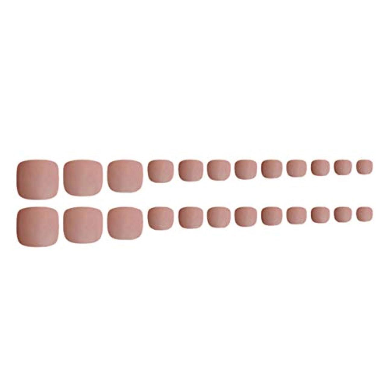 Decdeal ネイルチップ 24ピース 12サイズ 偽つま先 ネイル用品 ネイルキャンディカラフルなプレスオントゥネイル人工ネイルアートのヒント