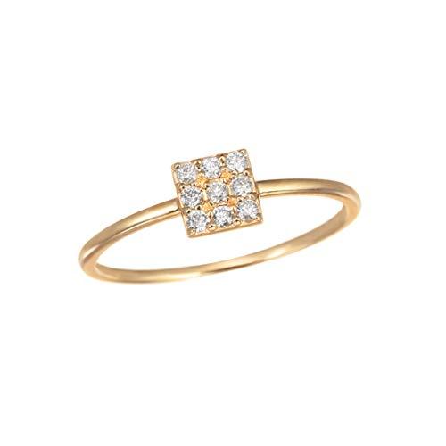 [ジュエリーツツミ]JEWELRY TSUTSUMI K10イエローゴールドダイヤモンドリング RFR853-001 9号