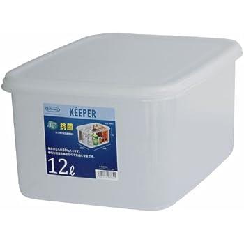岩崎 食品保存容器 クリア 12L (L) フレッシュキーパー ジャンボケース 深型 B-888AG