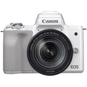 Canon ミラーレス一眼カメラ EOS Kiss M ホワイト レンズキット EF-M18-150 IS STM付属 EOSKISSMWH-18150ISSTM