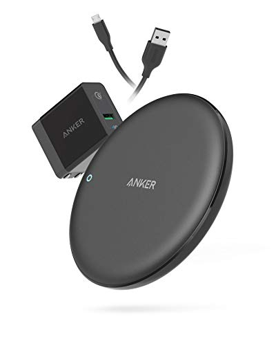 【USB充電器セット】Anker PowerWave 7.5 Pad(7.5W ワイヤレス充電器 冷却ファン内蔵モデル)【PSE認証済/Qi認証済/Quick Charge 3.0対応急速充電器付属】iPhone XS / XS Max / XR / X / 8 / 8 Plus、Galaxy S9 / S9+ / S8 / S8+、その他Qi対応機種 各種対応 (ブラック)
