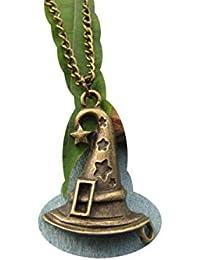 ブロンズWitches帽子ネックレス – Witch Hatネックレス – ウィザード帽子ネックレス – ハロウィーンネックレス