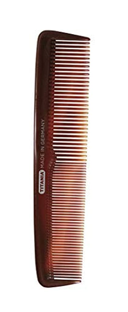 Titania Ladies' Big Comb, Black Marble - German Made Coarse & Fine Toothed Styling Comb For Detangling Beard,...
