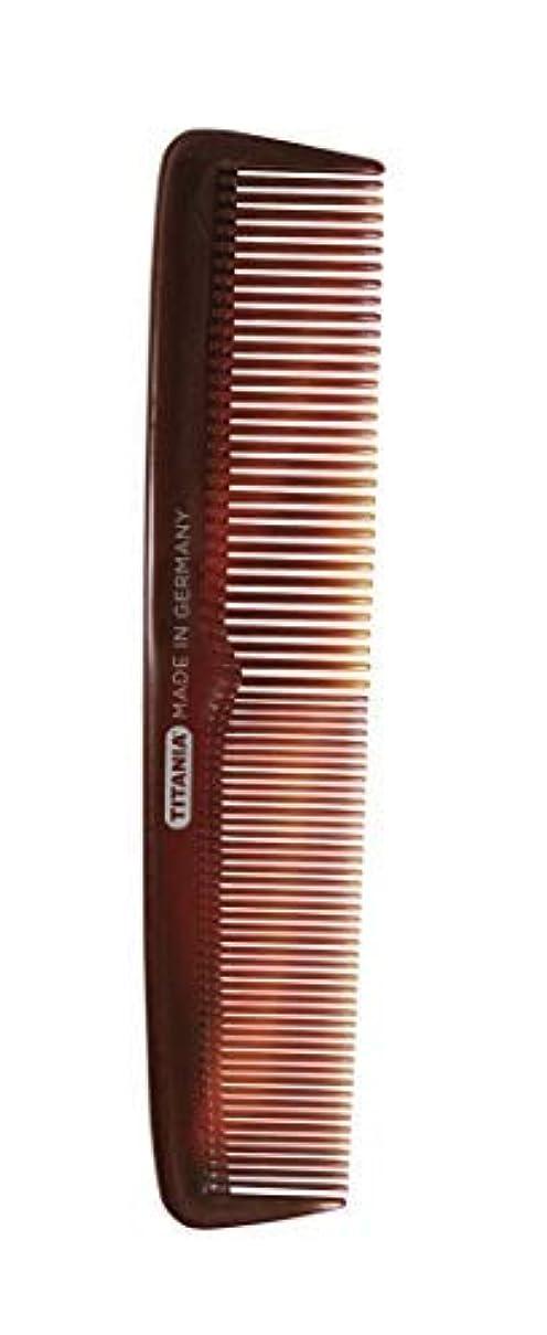 醜い兵隊考古学者Titania Ladies' Big Comb, Black Marble - German Made Coarse & Fine Toothed Styling Comb For Detangling Beard,...
