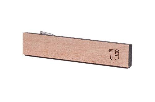 シェービングセットタイクリップ、木製ネクタイバー...