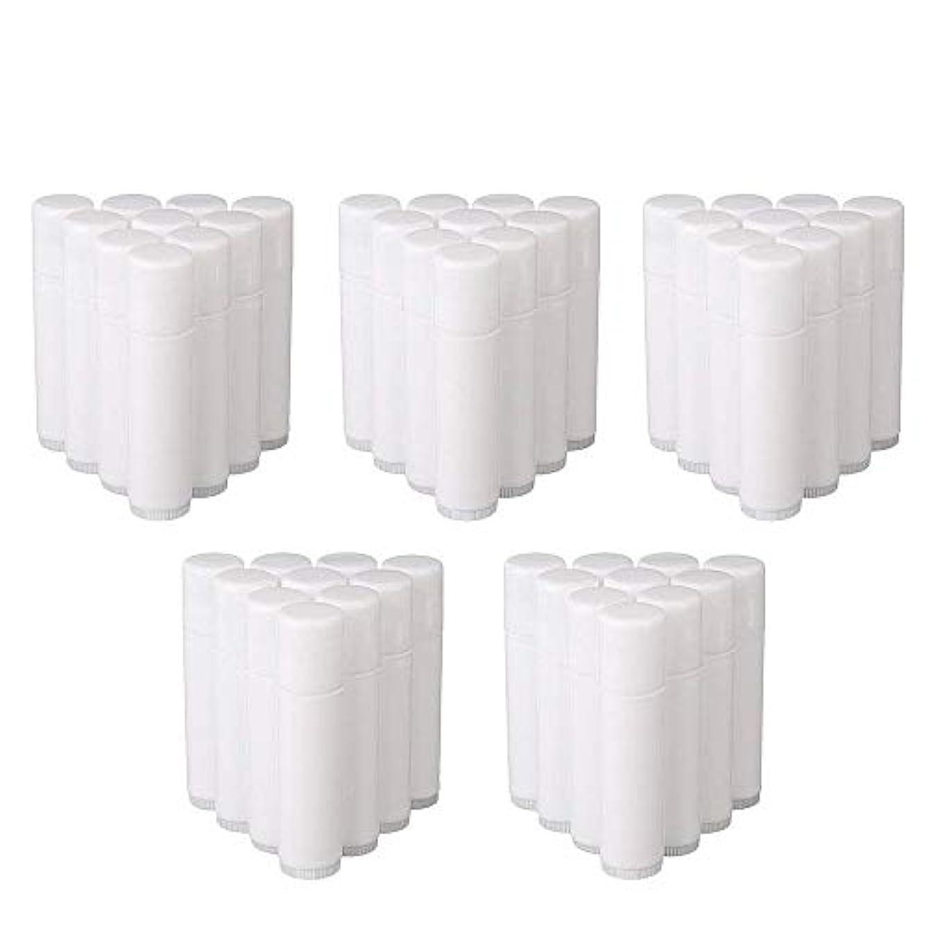 覚えているいろいろおばあさんCOOLBOTANG リップバームチューブ リップクリーム 繰り出し ホワイト 手作りコスメ 手作り化粧品/リップクリーム 50個 5g ミニ 詰め替え容器