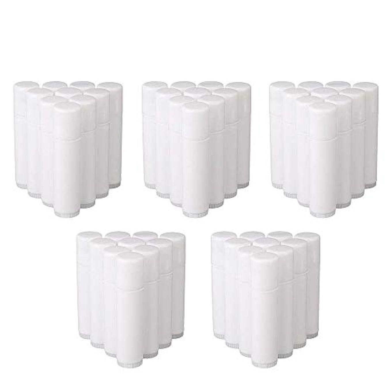 ベリ論争的本会議COOLBOTANG リップバームチューブ リップクリーム 繰り出し ホワイト 手作りコスメ 手作り化粧品/リップクリーム 50個 5g ミニ 詰め替え容器