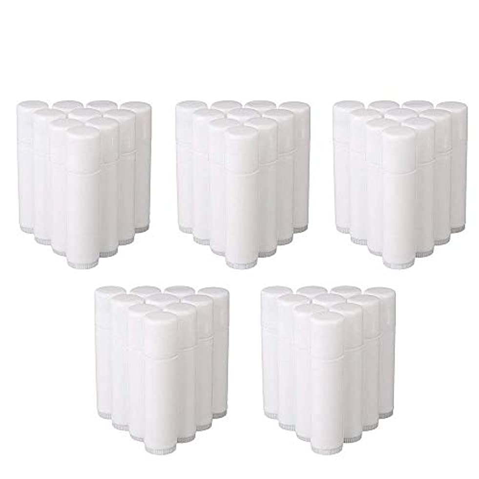 COOLBOTANG リップバームチューブ リップクリーム 繰り出し ホワイト 手作りコスメ 手作り化粧品/リップクリーム 50個 5g ミニ 詰め替え容器