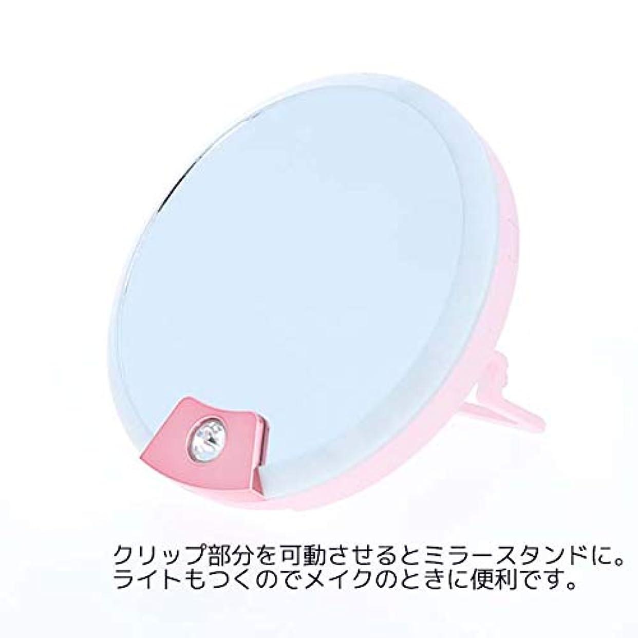 tinyM ミラーつきライト TM-2 コンパクト鏡 化粧鏡 自撮り インスタ映え