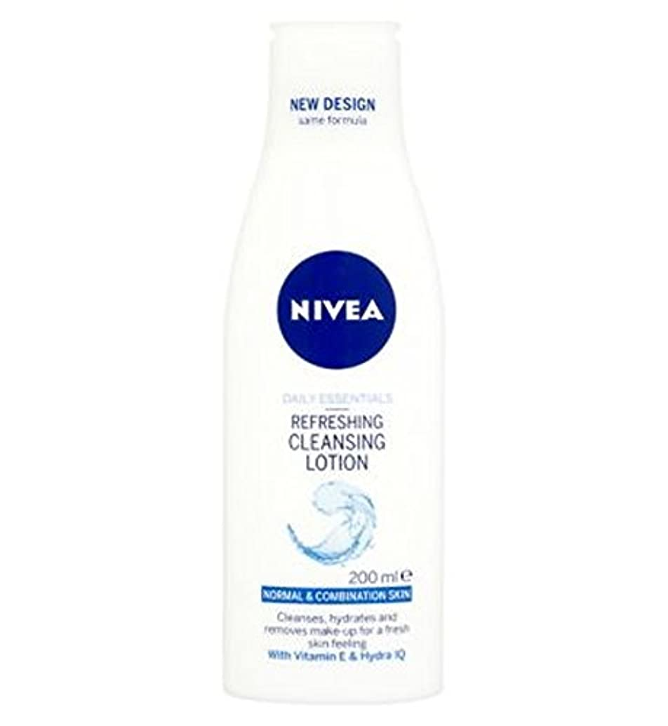 租界春パワーセルNivea Daily Essentials Refreshing Cleansing Lotion For Normal to Combination Skin 200ml - 混合肌の200ミリリットルに、通常のための...