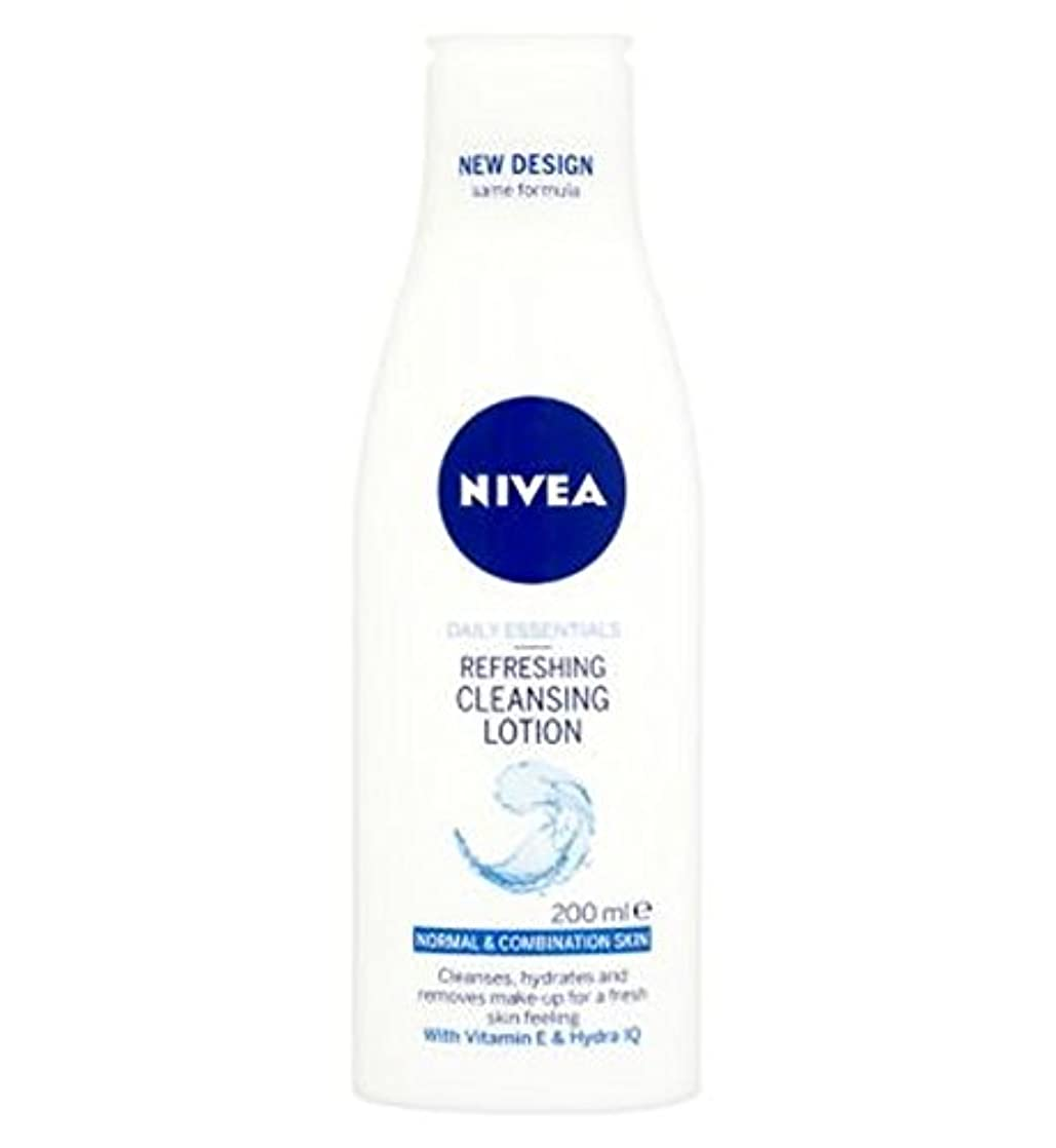 Nivea Daily Essentials Refreshing Cleansing Lotion For Normal to Combination Skin 200ml - 混合肌の200ミリリットルに、通常のための...