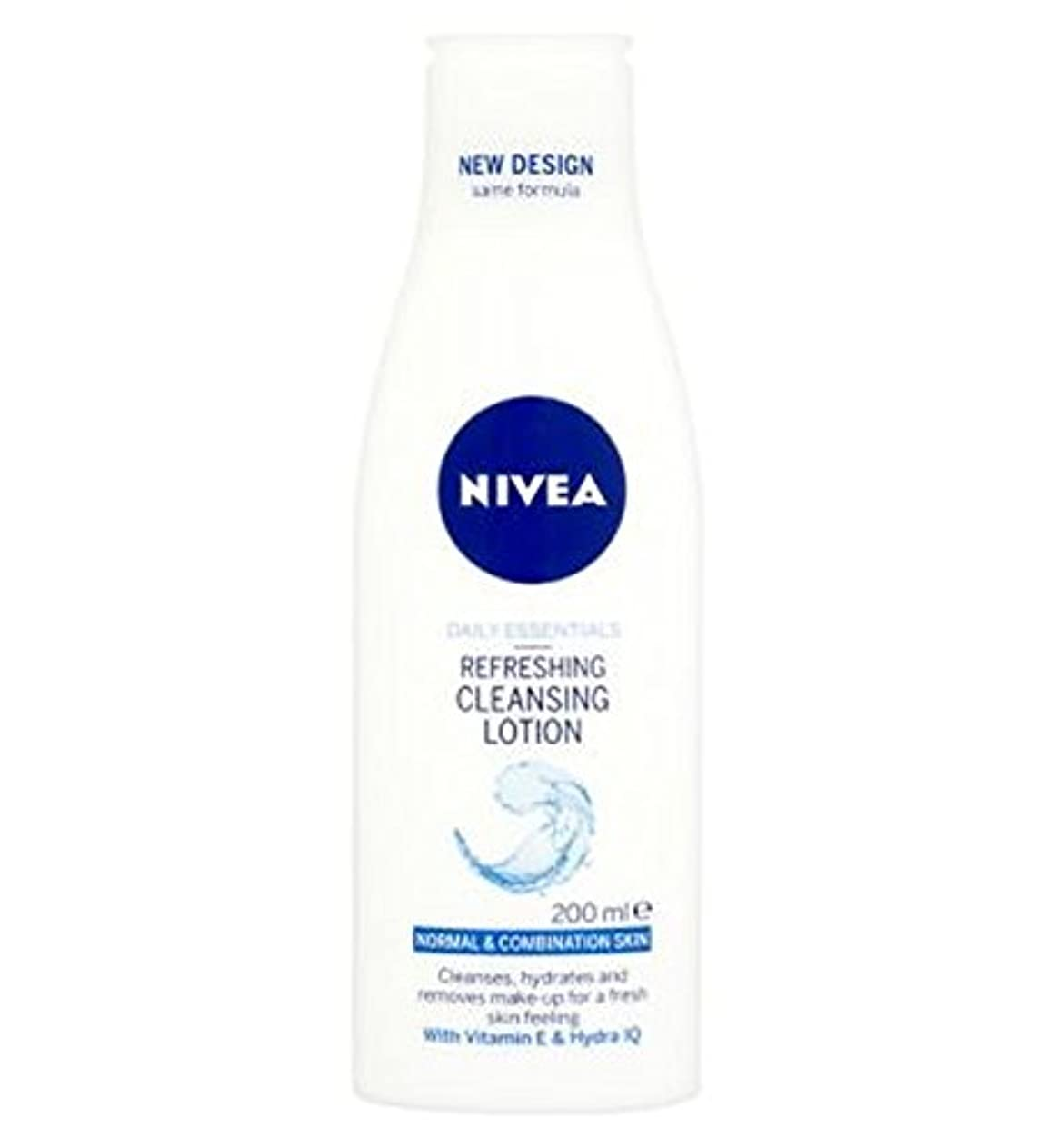 シリングラベル機械的Nivea Daily Essentials Refreshing Cleansing Lotion For Normal to Combination Skin 200ml - 混合肌の200ミリリットルに、通常のための...