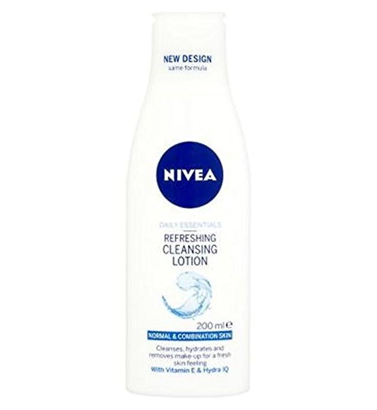 重要な役割を果たす、中心的な手段となる破壊冒険家混合肌の200ミリリットルに、通常のためのクレンジングローションをリフレッシュニベア生活必需品 (Nivea) (x2) - Nivea Daily Essentials Refreshing Cleansing Lotion...
