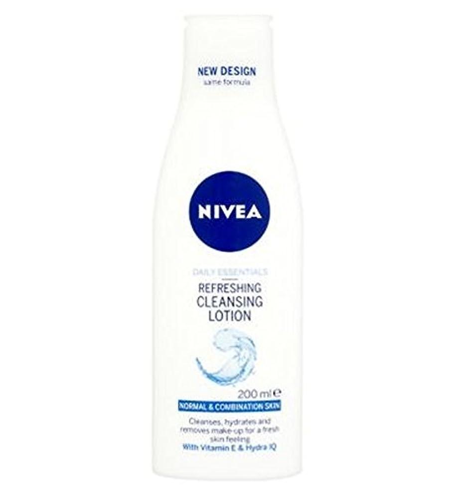 細胞ワゴン霧深い混合肌の200ミリリットルに、通常のためのクレンジングローションをリフレッシュニベア生活必需品 (Nivea) (x2) - Nivea Daily Essentials Refreshing Cleansing Lotion...