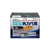 水性シリコンアクリル外かべ用 ソフトグレー 8KG【代引不可】