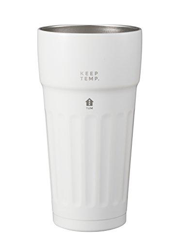 シービージャパン タンブラー ホワイト ステンレス製 ビールグラス 真空断熱 460ml TUM