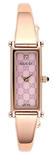 [グッチ]GUCCI 腕時計 1500 ピンクパール文字盤 ス...