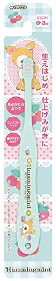 ガムお尻カールスケーター 歯ブラシ 乳児用 (0-3才) 毛の硬さ普通 15cm ハミングミント TB4N