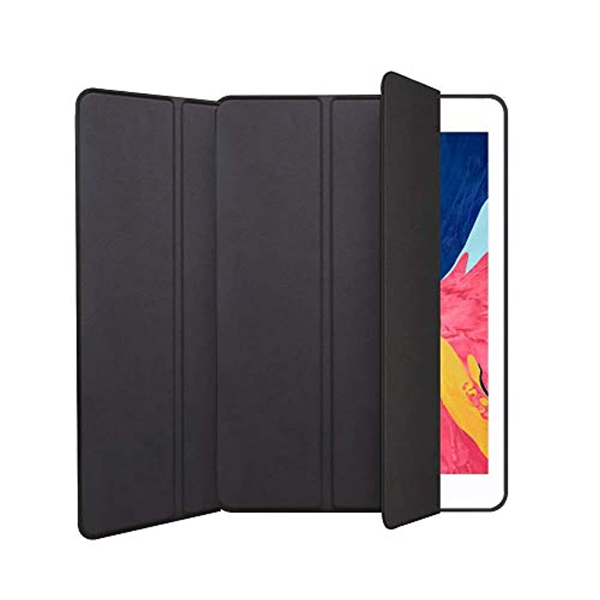 フラグラント低下管理するiPad Mini 5 ケース 2019 薄型 TPUソフト スマート カバー iPad Mini 5ケース キズ防止 三つ折り スタンド オートスリープ ウェイクアップ 機能 iPad Mini5(第五世代) 専用 (ブラック)