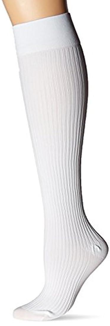定常化合物レールJOBST soSoft 8-15 mmHg Ribbed Closed Toe Knee Support Stocking, White, Medium by Jobst