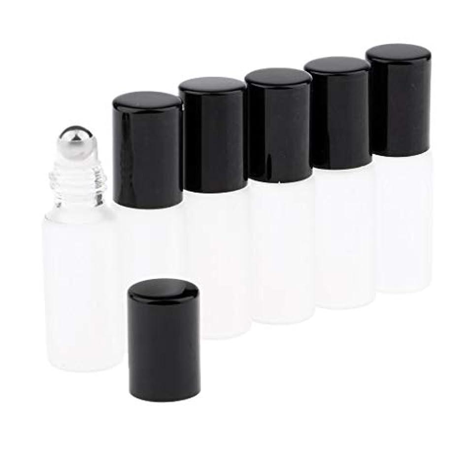 CUTICATE ガラスアロマボトル 精油 小分けボトル アロマオイル用瓶 香水用瓶 空のローラーボトル 精油ロールボトル 3色 - ブラック