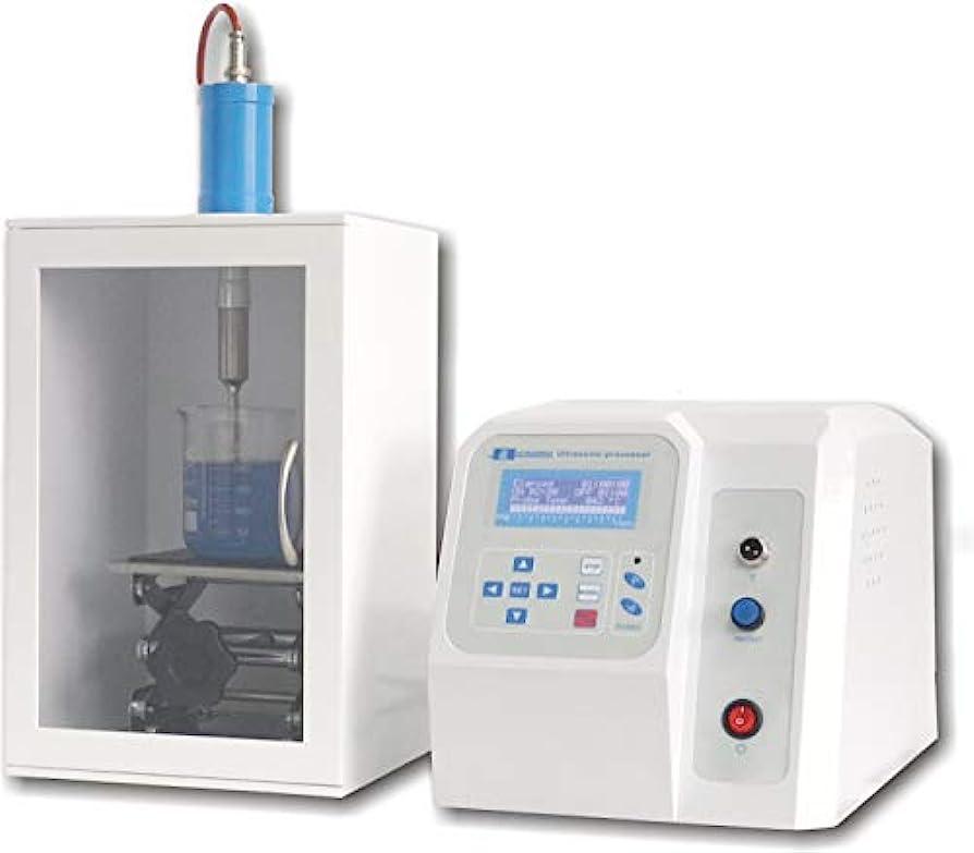 インディカ配管工アナログMXBAOHENGハイパワーホモジナイザー ホモミキサー タイマー付き FS-300N 5ml-200mlLCD超音波プロセッサ 高品質 耐久性 110V