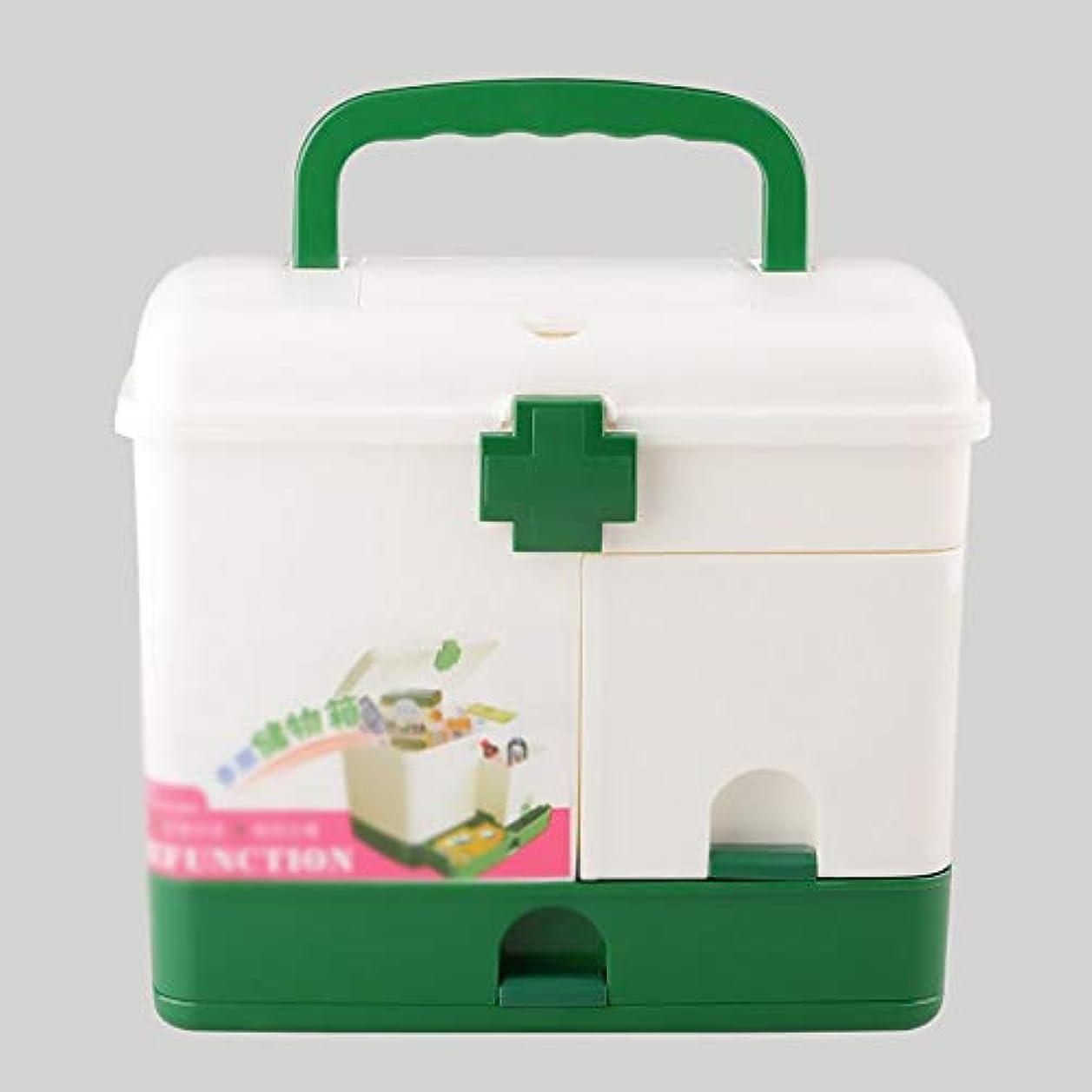 リマークミッションマーケティングZHILIAN& プラスチック製の薬箱家族の薬収納ボックス収納ボックスポータブル多機能緊急ツールボックス28×21×24.5センチ
