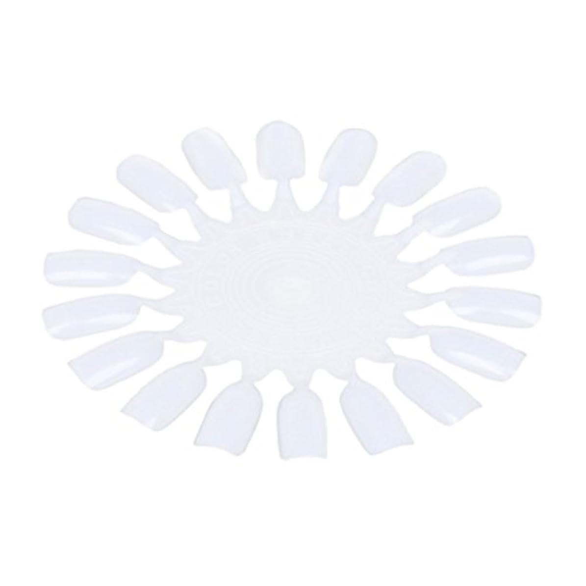 Nrpfell 10個 メークアップ化粧ネイル ポーランドカラー段ボールカラーチャート18カラー ベージュ