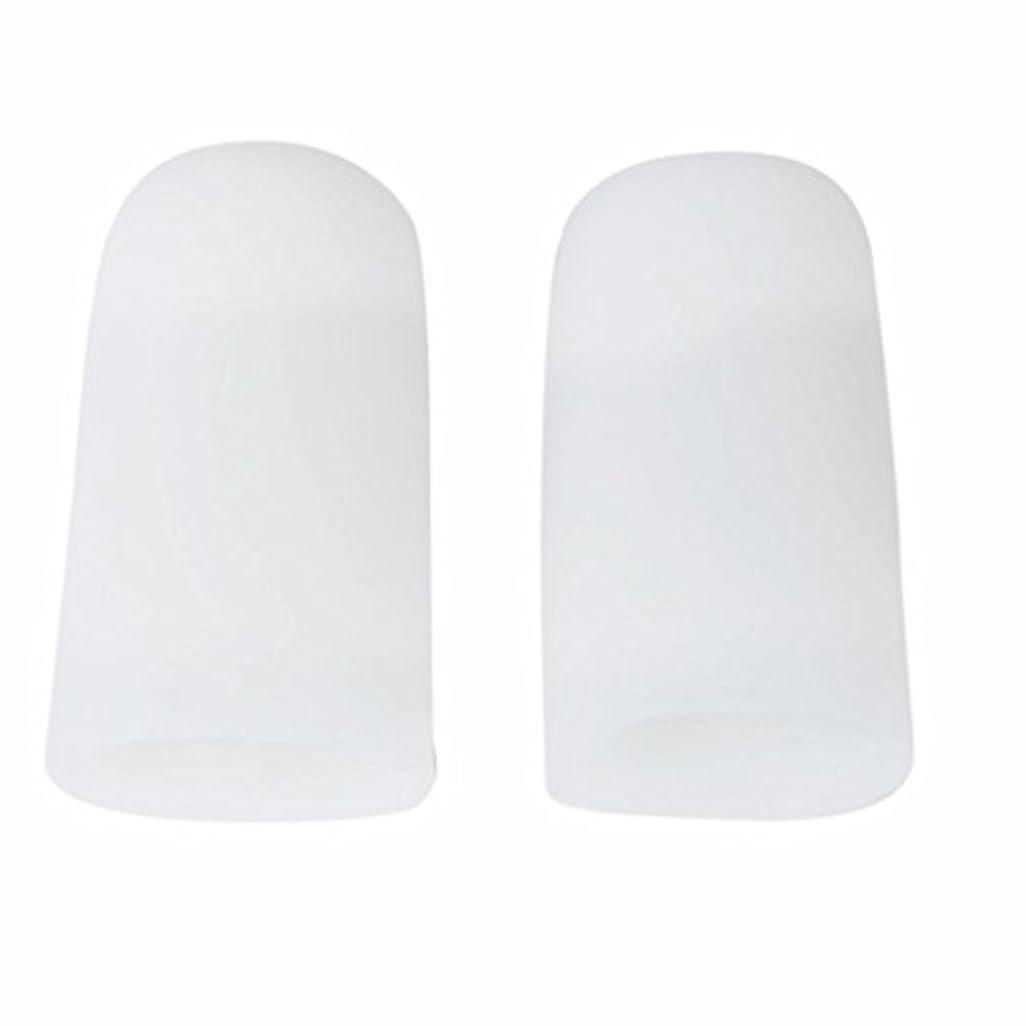 幼児伝える読みやすさAMAA 足指 保護キャップ つま先 プロテクター 足先のつめ 保護キャップ シリコン S M Lサイズ 1ペア (M)
