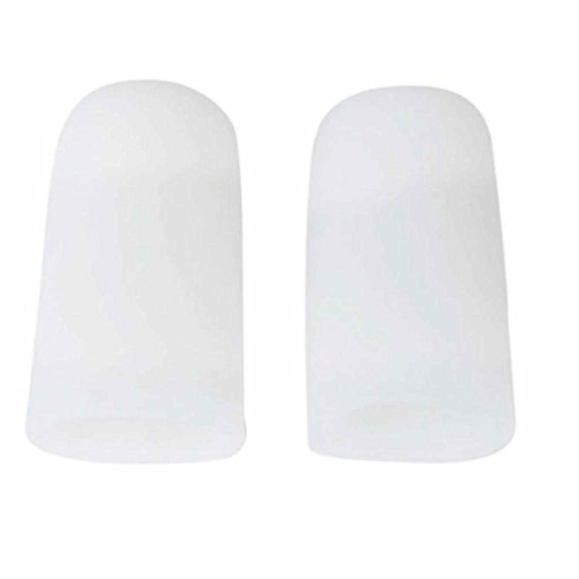 AMAA 足指 保護キャップ つま先 プロテクター 足先のつめ 保護キャップ シリコン S M Lサイズ 1ペア (M)