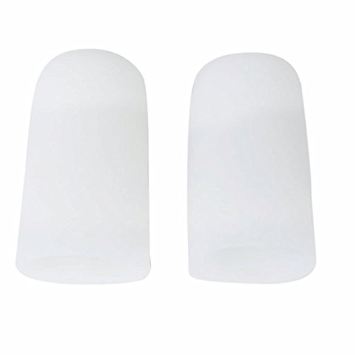 石化する聞く固めるAMAA 足指 保護キャップ つま先 プロテクター 足先のつめ 保護キャップ シリコン S M Lサイズ 1ペア (M)
